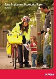 Australia Post Equal Employment Opportunity Report 2009-10