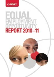 2010-11 Equal Employment Opportunity Report - Australia Post