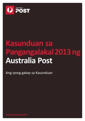 Kasunduan sa Pangangalakal 2013 ng Australia Post