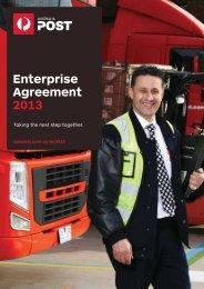 Enterprise Agreement 2013 brochure (363kb - Australia Post