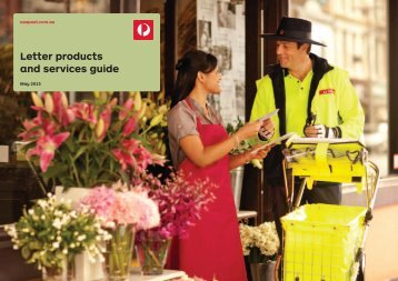 Letters Product & Service Guide - Australia Post