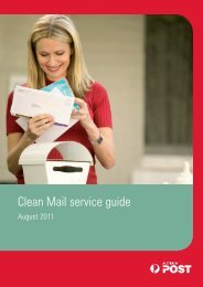 Clean Mail service guide 8838878 - Australia Post