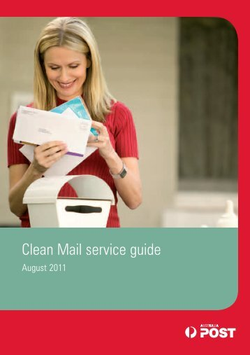 Clean Mail service guide 8838878 - Australia Post