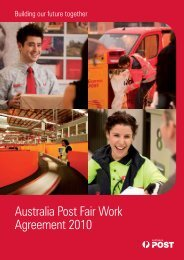 Australia Post Fair Work Agreement 2010