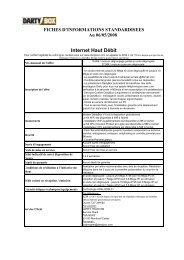 Fiches d'information standardisées - Dartybox