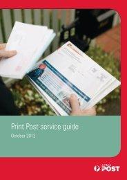 Print Post service guide 8834059 - Australia Post