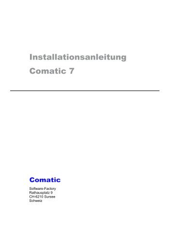 Installationsanleitung Comatic 7 - andeer.net Software