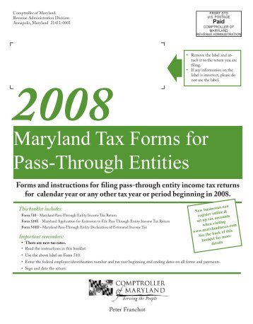 Maryland Tax Returns - the Comptroller of Maryland