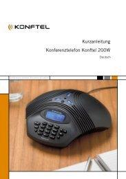 Kurzanleitung Konferenztelefon Konftel 200W