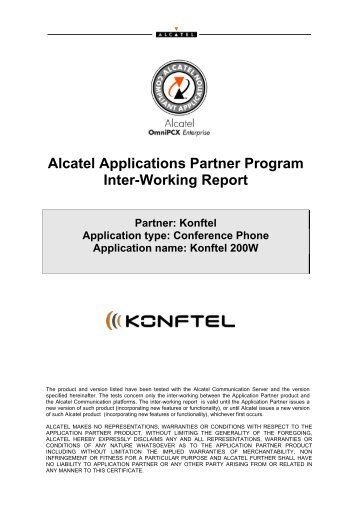 View Interworking report - Konftel