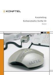 Kurzanleitung Konferenztelefon Konftel 50