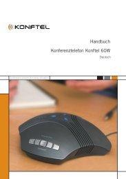 Handbuch Konferenztelefon Konftel 60W