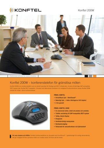Se produktinformation (pdf 164 KB) - Konftel