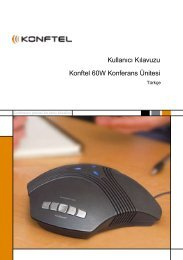 Kullanıcı Kılavuzu Konftel 60W Konferans Ünitesi