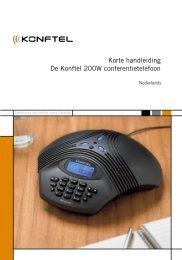Korte handleiding De Konftel 200W conferentietelefoon