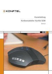 Kurzanleitung Konferenztelefon Konftel 60W
