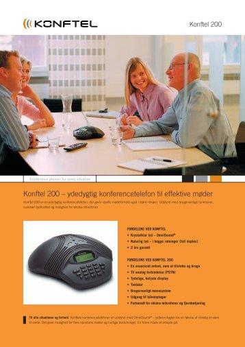 Konftel 200 – ydedygtig konferencetelefon til effektive møder