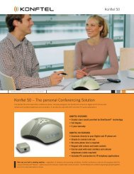 Konftel 50 – The personal Conferencing Solution