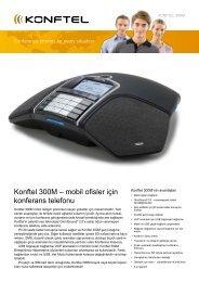Konftel 300M – mobil ofisler için konferans telefonu