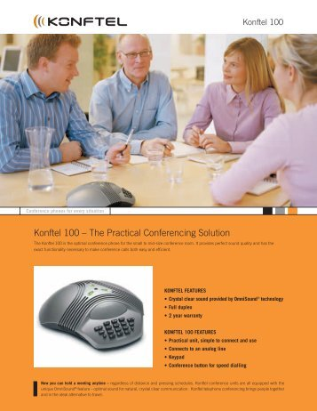 Konftel 100 – The Practical Conferencing Solution