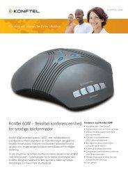 Konftel 60W – fleksibel konferenceenhed for smidige telefonmøder