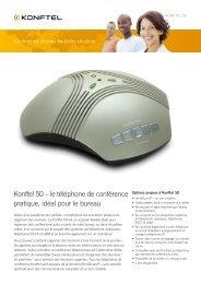Konftel 50 – le téléphone de conférence pratique, idéal pour le bureau