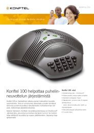 Konftel 100 helpottaa puhelin- neuvottelun järjestämistä