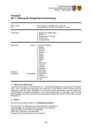 Protokoll der 1. Sitzung der Delegiertenversammlung