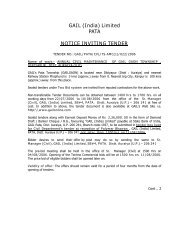 GAIL (India) Limited PATA NOTICE INVITING TENDER