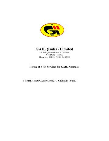 Hiring of VPN Services for GAIL Agartala
