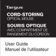 SOURIS OPTIQUE User Guide Manuel de l'utilisateur - Targus