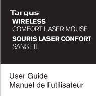 User Guide Manuel de l'utilisateur - Targus