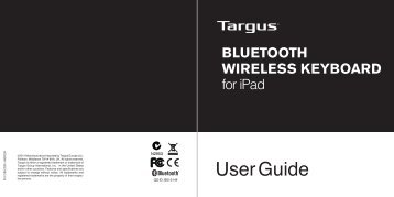 BLUETOOTH WIRELESS KEYBOARD for iPad - Targus