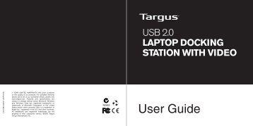 USB 2.0 Laptop Docking Station with Video - Targus