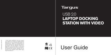 USB 2.0 Laptop Docking Station with Video - Targus