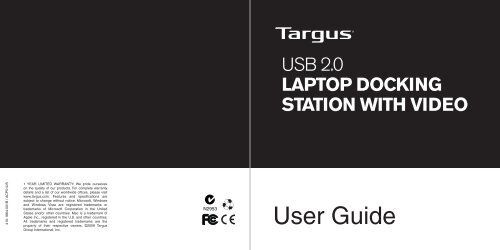 USB 2 0 Laptop Docking Station with Video - Targus