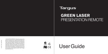 Green Laser Presentation Remote - Targus