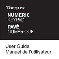 User Guide Manuel de l'utilisateur NUMERIC KEYPAD ... - Targus