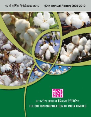 Annual Report 2009-10 - The Cotton Corporation of India, Ltd