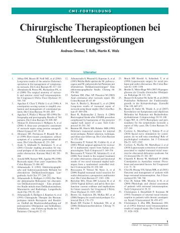 Chirurgische Therapieoptionen bei ... - Kaden Verlag