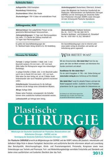 Mediadaten - Dr. R. Kaden Verlag