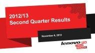 2012/13 Q2 Results Presentation - Lenovo