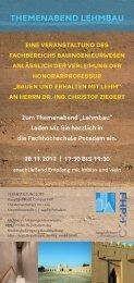 themenabend lehmbau - Bauingenieurwesen - Fachhochschule ...