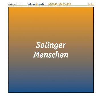 Solinger Menschen - Wenke Mein Solingen