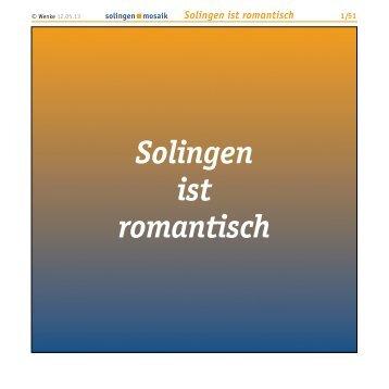 Solingen ist romantisch - Wenke Mein Solingen
