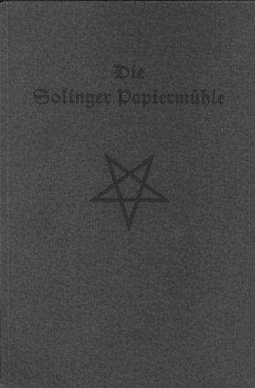 Die Solinger Papiermühle - Wenke Mein Solingen