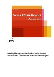 News Flash Report Januar 2011 herunterladen - PwC Blogs