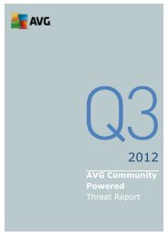 AVG Community Powered Threat Report - Q3 2012