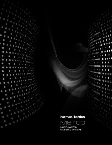 music system owner's manual - Harman Kardon