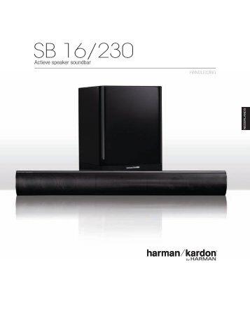 Owners Manual - SB 16 (Dutch) - Harman Kardon
